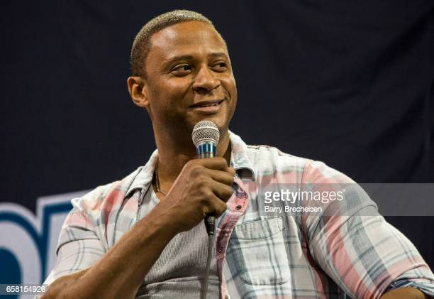Actor David Ramsey during the Walker Stalker Con Chicago at the Donald E Stephens Convention Center on March 26 2017 in Rosemont Illinois