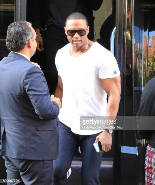 Actor David Ramsey is seen on July 21 2017 at Comic Con in San Diego CA