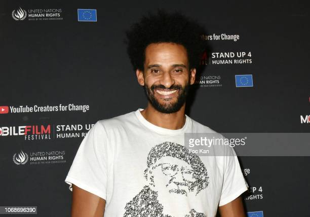 Actor David Saada attends the 'Mobile Film Festival Stand Up 4 Human Rights Awards' Ceremony Hosted by Youtube Creators For Change at Cinema MK2...