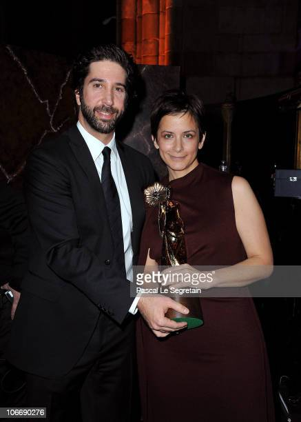 Actor David Schwimmer and 2010's Princess Grace Statue Award winner Anna D Shapiro attend The 2010 Princess Grace Awards Gala at Cipriani 42nd Street...