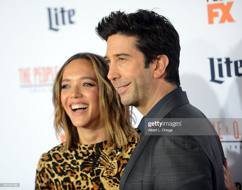 Actor David Schwimmer and wife Zoe Buckman arrive for Premiere Of 'FX's 'American Crime Story - The People V. O.J. Simpson' held at Westwood Village Theatre on January 27, 2016 in Westwood, California.