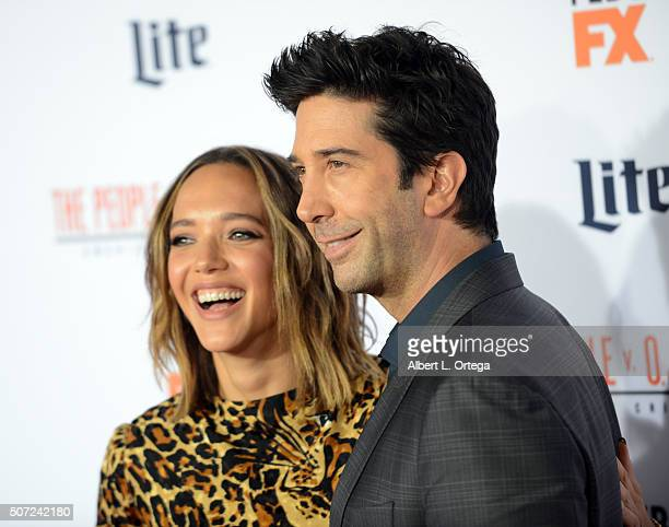 Actor David Schwimmer and wife Zoe Buckman arrive for Premiere Of FX's American Crime Story The People V OJ Simpson held at Westwood Village Theatre...