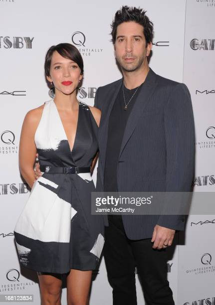 Actor David Schwimmer and Zoe Buckman attend 'The Great Gatsby' Special Screening at the Museum of Modern Art on May 5 2013 in New York City