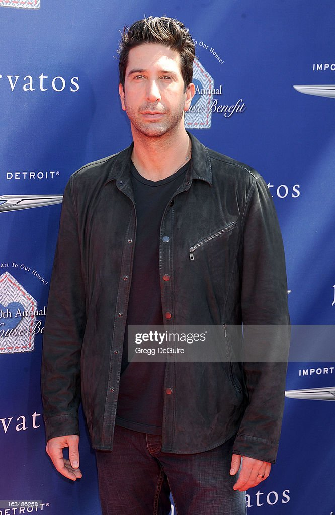 Actor David Schwimmer arrives at John Varvatos 10th Annual Stuart House Benefit at John Varvatos Los Angeles on March 10, 2013 in Los Angeles, California.