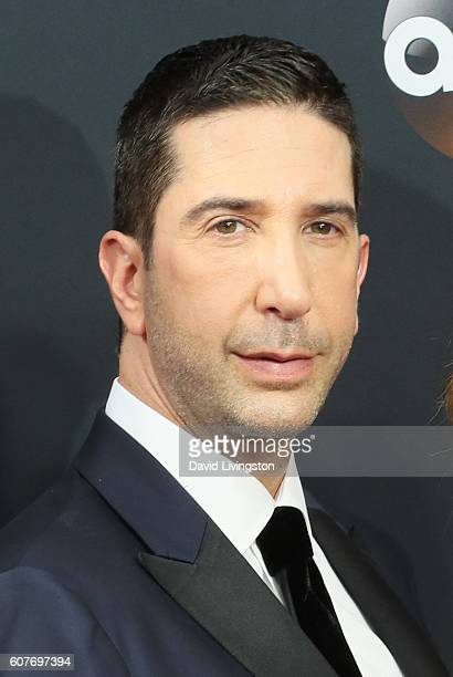 Actor David Schwimmer arrives at the 68th Annual Primetime Emmy Awards at the Microsoft Theater on September 18 2016 in Los Angeles California