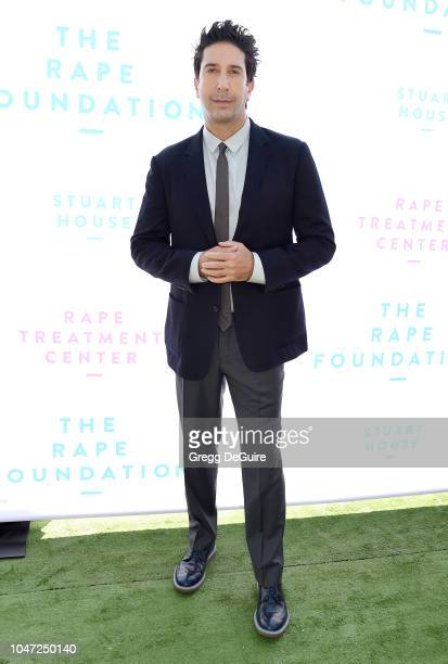 Actor David Schwimmer arrives at The Rape Foundation's Annual Brunch on October 7 2018 in Beverly Hills California