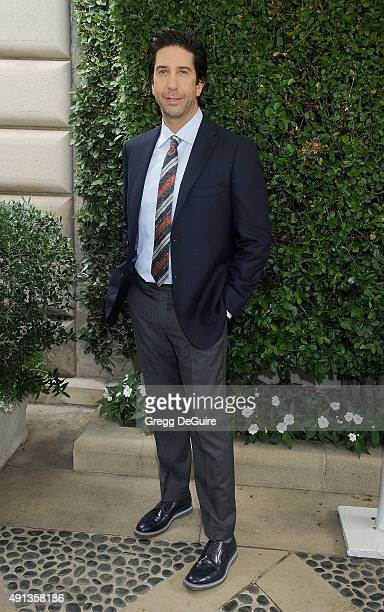 Actor David Schwimmer arrives at The Rape Foundation's Annual Brunch at Greenacres The Private Estate of Ron Burkle on October 4 2015 in Beverly...
