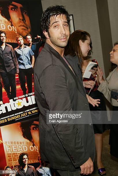 Actor David Schwimmer attends a premiere screening of HBO's new series Entourage at the Loews EWalk Theater June 30 2004 in New York City