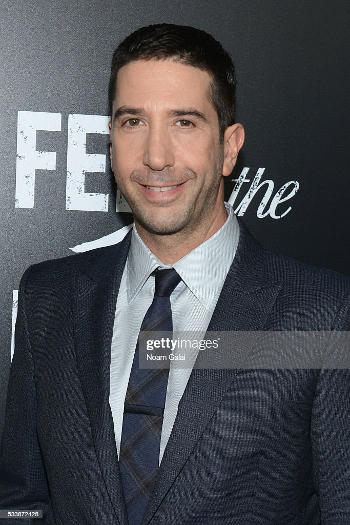 Actor David Schwimmer attends the AMC's Feed The Beast Premiere on May 23, 2016 in New York City.