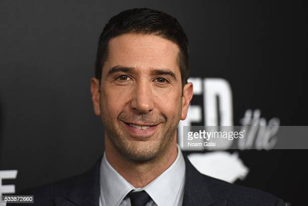 Actor David Schwimmer attends the AMC's Feed The Beast Premiere on May 23 2016 in New York City