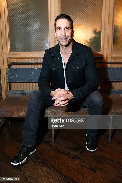 Actor David Schwimmer attends the Meet and Eat event for AMC's new series Feed The Beast at Kaufman Astoria Studios on May 9 2016 in New York City