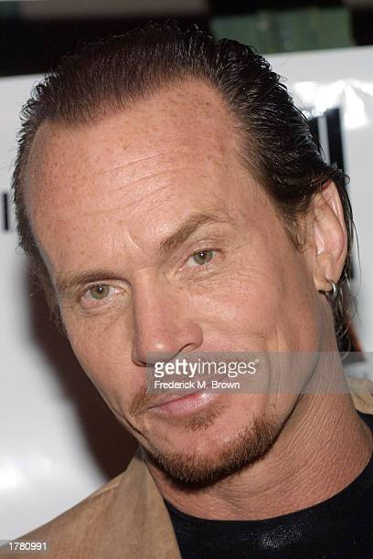 Actor David Shark Fralich attends the Last Chance For Animals fundraiser party on February 12 2003 in Los Angeles California The event benefits...