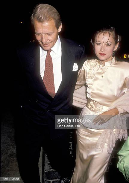 Actor David Soul and wife Actress Julia Nickson attend the 10th Annual John Wayne Cancer Clinic Benefactors Dinner on December 3 1989 at Jimmy's...