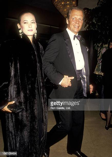 Actor David Soul and wife Actress Julia Nickson attend the American Cinema Editors 41st Annual Eddie Awards on March 9 1991 at Beverly Hilton Hotel...
