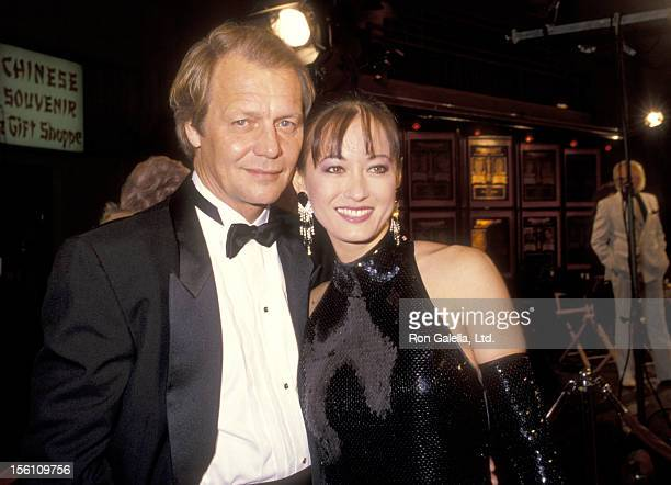 Actor David Soul and wife Actress Julia Nickson attend the 'China Cry' Hollywood Premiere on November 1 1990 at Mann's Chinese Theatre in Hollywood...