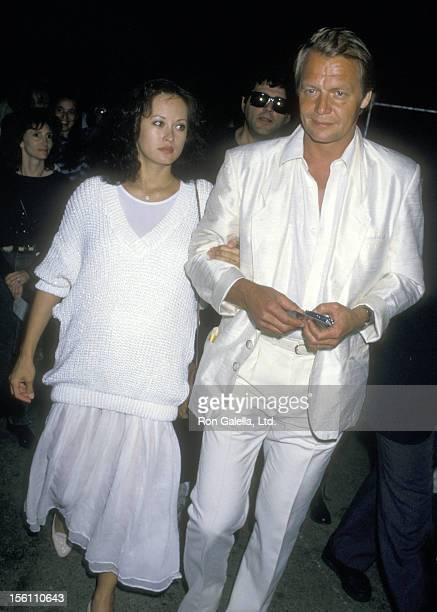 Actor David Soul and wife Actress Julia Nickson attend the Performance of Cirque du Soleil on March 27 1988 at Santa Monica Pier in Santa Monica...