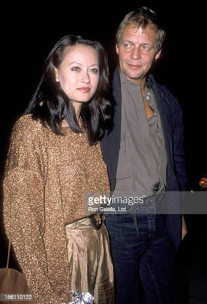 Actor David Soul and wife Actress Julia Nickson on November 30 1988 dining at Spago in West Hollywood California