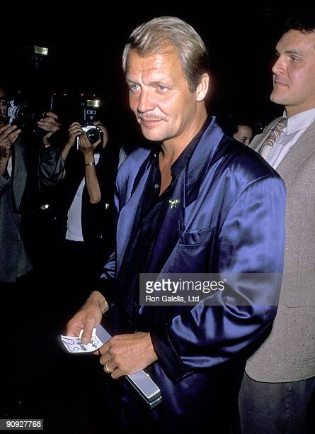 Actor David Soul attends the 10th Anniversary Celebration of the Stephen J Productions on July 10 1989 at Chasen's at Beverly Hills California