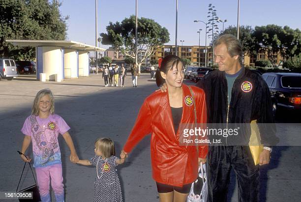 Actor David Soul wife Actress Julia Nickson and children attend the Variety Children's Charities and the Milken Family Foundation Host the Festival...