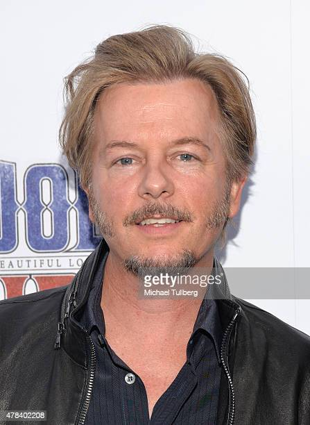 Actor David Spade attends the premiere of Crackle's new film Joe Dirt 2 Beautiful Loser at Sony Studios on June 24 2015 in Los Angeles California
