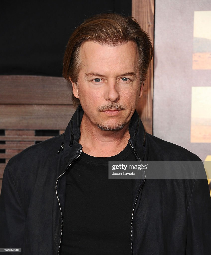 Actor David Spade attends the premiere of 'The Ridiculous 6' at AMC Universal City Walk on November 30, 2015 in Universal City, California.