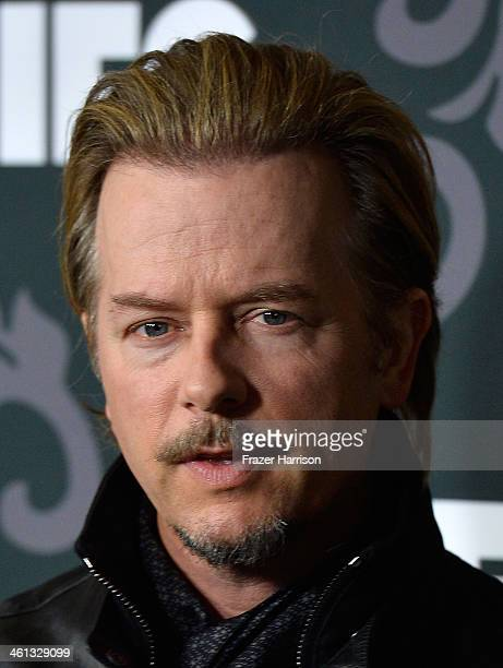 Actor David Spade attends the screening of IFC's The Spoils Of Babylon at DGA Theater on January 7 2014 in Los Angeles California