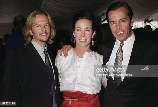 Actor David Spade joins his big brother Andy a menswear designer and Andy's wife accessories designer Kate Spade at Lincoln Center's Avery Fisher...