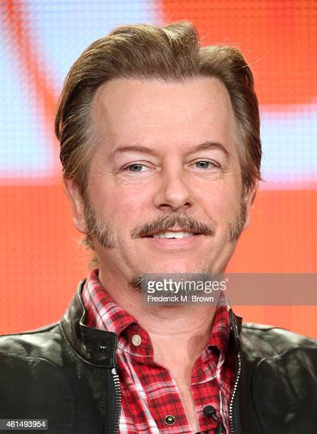 "Actor David Spade speaks onstage during the ""Joe Dirt"" panel as part of the Sony/Crackle 2015 Winter Television Critics Association press tour at the..."