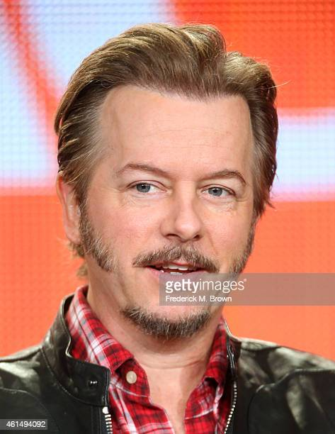 Actor David Spade speaks onstage during the Joe Dirt panel as part of the Sony/Crackle 2015 Winter Television Critics Association press tour at the...