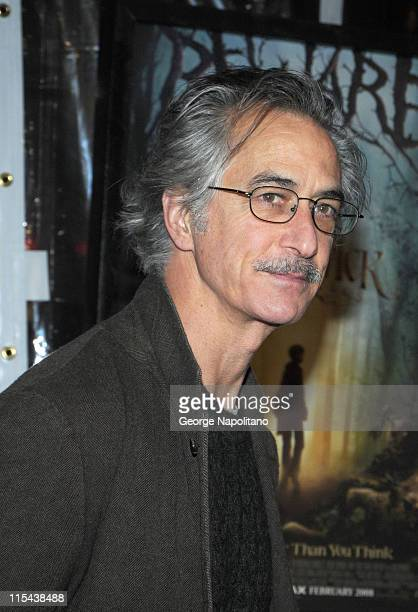 Actor David Strathairn attends a special screening of Paramount Pictures' and Nickelodeon Movies 'The Spiderwick Chronicles' at AMC Lincoln Square on...