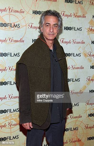 Actor David Strathairn attends the premiere of Temple Grandin at the Time Warner Screening Room on January 26 2010 in New York City