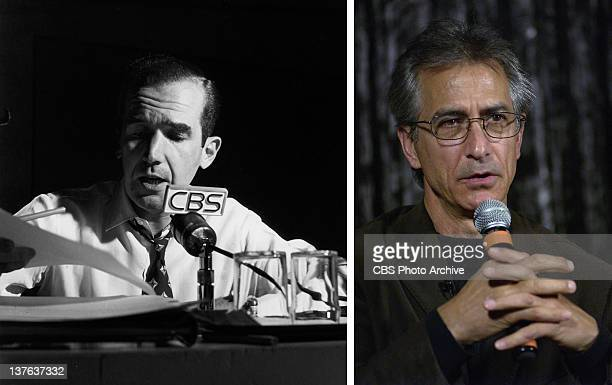 In this composite image a comparison has been made between Edward R Murrow and actor David Strathairn Oscar hype continues this week with the...