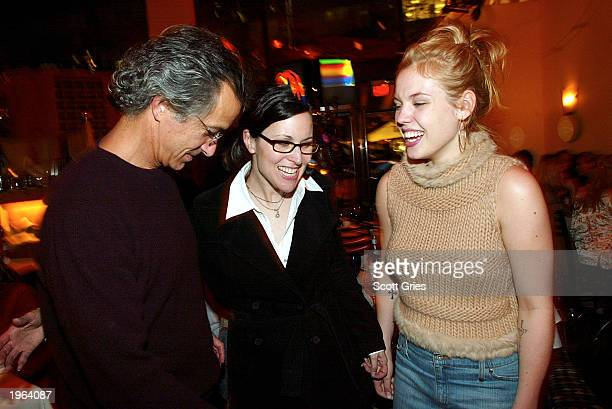 Actor David Strathairn writer/director Karen Moncrieff and actress Agnes Bruckner attend the after party for the special screening of Miramax Films'...