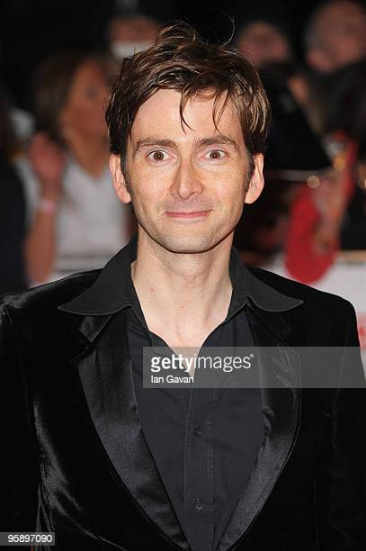 Actor David Tennant arrives at the National Television Awards held at O2 Arena on January 20 2010 in London England