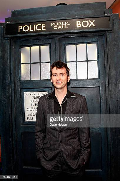 Actor David Tennant arrives at the press launch of 'Dr Who' series 4 at the Apollo West End on April 1, 2008 in London, England. The first episode of...