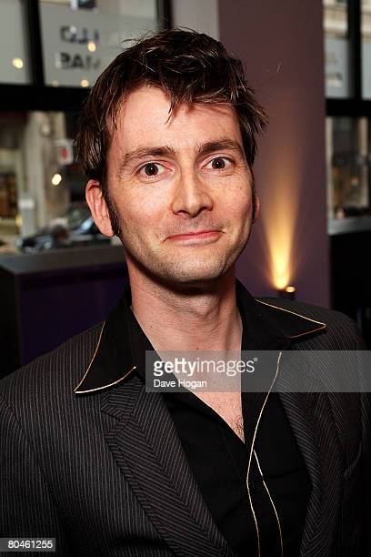 Actor David Tennant arrives at the press launch of 'Dr Who' series 4 at the Apollo West End on April 1 2008 in London England The first episode of...