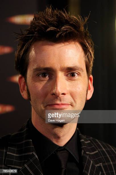 Actor David Tennant attends the gala screening of the 'Doctor Who' Christmas episode at the Science Museum on December 18 2007 in London England