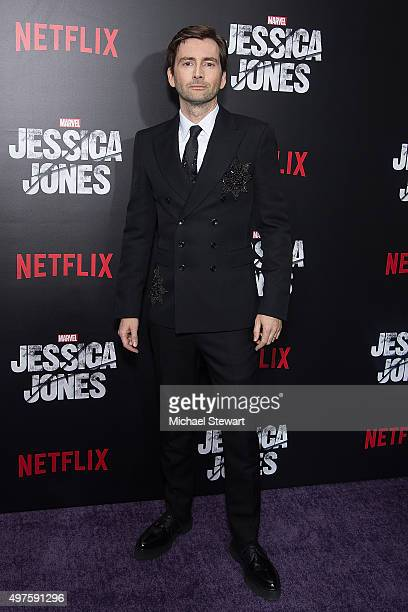 Actor David Tennant attends the 'Jessica Jones' series premiere at Regal EWalk on November 17 2015 in New York City