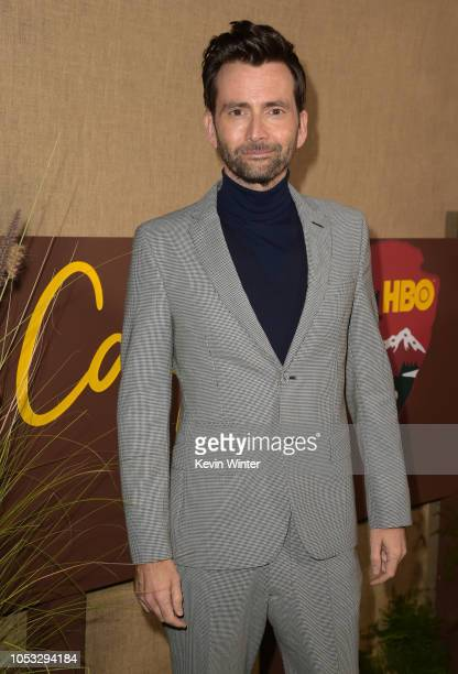 Actor David Tennant attends the Los Angeles premiere of the HBO series Camping at Paramount Studios on October 10 2018 in Hollywood California