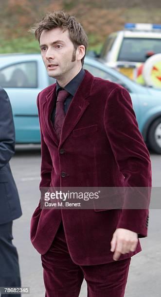 Actor David Tennant attends the wedding of Billie Piper and Laurence Fox at the Parish Church of St. Mary on December 31, 2007 in Easebourne, West...