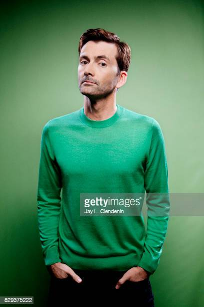 Actor David Tennant from the television series DuckTales is photographed in the LA Times photo studio at ComicCon 2017 in San Diego CA on July 21...