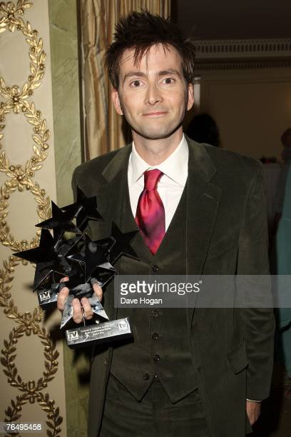 Actor David Tennant poses with his award for Best actor in Dr Who at the 2007 TV Quick and TV Choice Awards at the Dorchester Hotel September 3, 2007...
