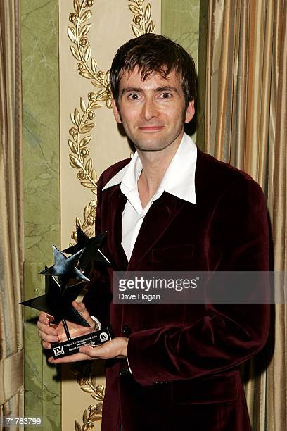 Actor David Tennant poses with the award for Best Actor for his role in Doctor Who at the TV Quick and TV Choice Awards at the Dorchester Hotel Park...