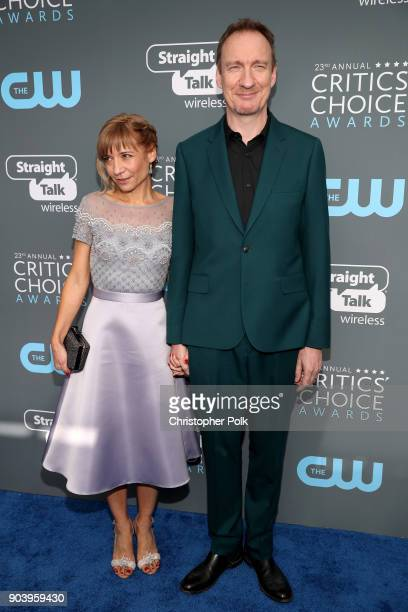 Actor David Thewlis and guest attend The 23rd Annual Critics' Choice Awards at Barker Hangar on January 11 2018 in Santa Monica California