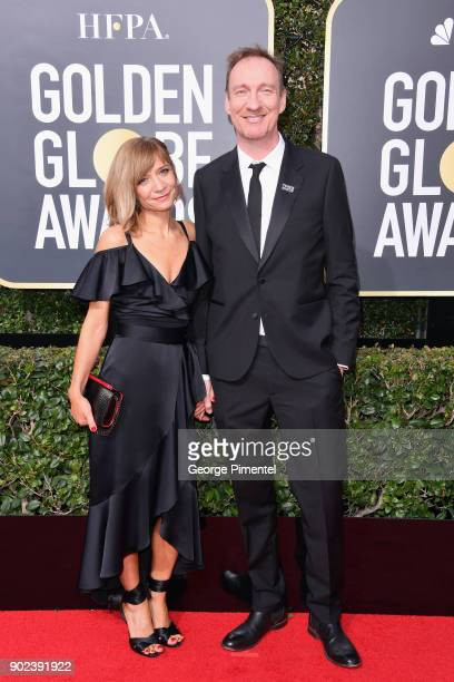 Actor David Thewlis and guest attend The 75th Annual Golden Globe Awards at The Beverly Hilton Hotel on January 7 2018 in Beverly Hills California