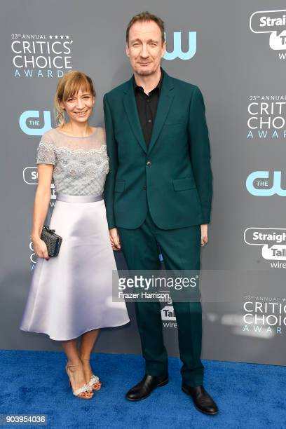 Actor David Thewlis attends The 23rd Annual Critics' Choice Awards at Barker Hangar on January 11 2018 in Santa Monica California