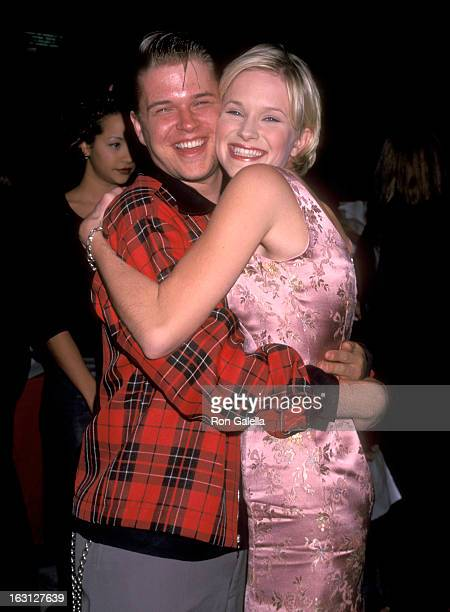 Actor David Tom and Actress Nicholle Tom attend the 'Pleasantville' Westwood Premiere on October 19 1998 at Mann National Theatre in Westwood...