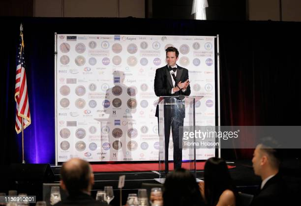 Actor David Walton hosts the 16th annual 'Gathering for Cure' black tie awards gala of Brain Mapping Foundation on March 16 2019 in Los Angeles...