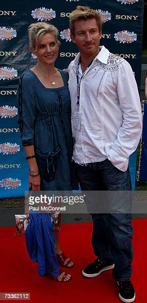 Actor David Wenham and partner Kate Agnew arrive at the Sony Tropfest 2007 short film festival at The Domain on February 18 2007 in Sydney Australia