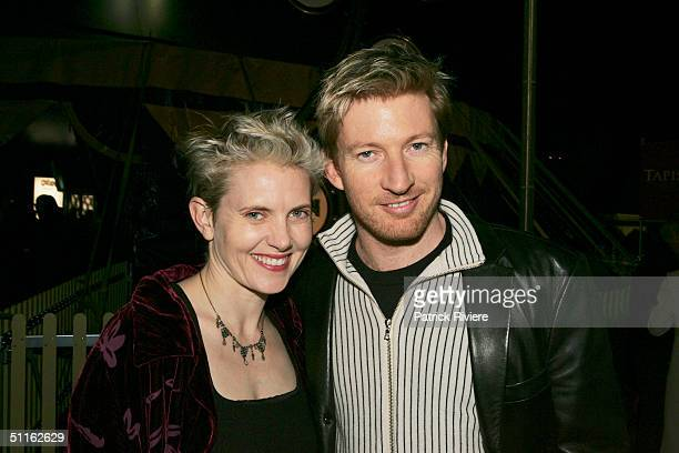 Actor David Wenham and wife Katie Agnew on the Tapis Rouge at the premiere of Quidam a production from The Cirque du Soleil at The Showring Fox...